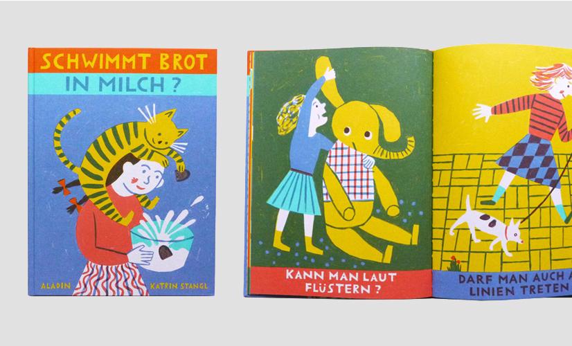 Німецька книжка «Чи плаває хліб у молоці?» видавництво ALADIN Verlag