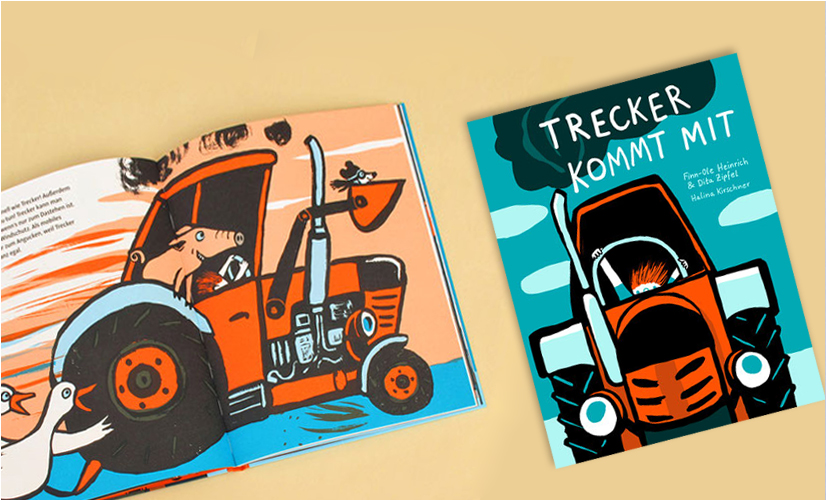 Німецька книжка «Разом із трактором» видавництво mairisch Verlag