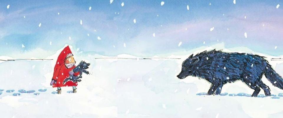 Вовк у снігу